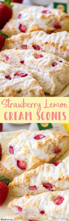 These easy homemade strawberry lemon cream scones are filled with fresh strawberries and fresh lemon juice! These are the best homemade scone recipe, and these are the perfect brunch recipe! http://juicymaketoday.com/best-juicers-guide/benefits-of-juicing-once-a-day/juice-cure-list-recipes/