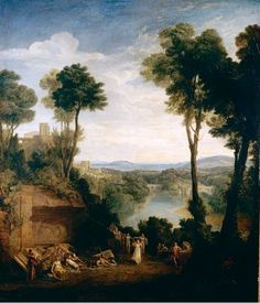 Mercury and Hersé (Joseph Mallord William Turner - ) Impressionist Paintings, Landscape Paintings, Oil Paintings, Turner Watercolors, English Romantic, Joseph Mallord William Turner, English Artists, Traditional Paintings, Art Reproductions