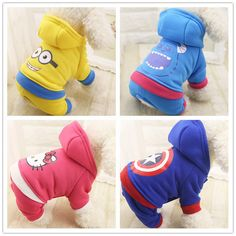 Pet Clothes Cartoon Dog Clothes Winter Warm Pet Dog Jacket Coat Puppy Cute Costumes For Dogs Hoodies Soft Fleece Pets Dog Hoodie Cute Costumes, Dog Costumes, Dog Hoodie, Sweater Hoodie, Small Dog Coats, Small Dogs, Large Dogs, America Outfit, Puppy Costume