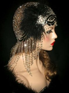 Beautifully beaded headdress.