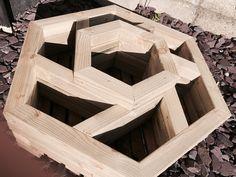 Carré potager hexagonal en bois à 2niveaux: Amazon.fr: Jardin