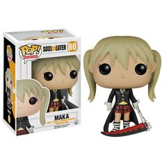 This is a Soul Eater Maka POP Vinyl Figure that is produced by Funko. It's great to see that Maka got her very own Funko POP Vinyl and that Soul Eater fans are getting treated to a wave of characters.