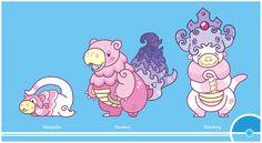 Pokemon Redesign #79-80-199 - Slowpoke, Slowbro, Slowking
