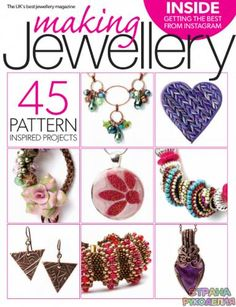 Buy Digital and Print Copies of Making Jewellery - Issue Available on Desktop PC or Mac and iOS or Android mobile devices. Wire Wrapped Jewelry, Beaded Jewelry, Handmade Jewelry, Metal Jewellery, Magazine Beads, Medieval, Beading Patterns, Beading Ideas, Jewelery
