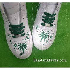 timeless design 7dbd9 d5347 ... bandana nike cortez ac1c7 6a787 usa customized nike sneakers unisex  white weed print a7cf6 44e45 ...