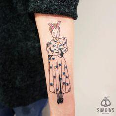 tattoo, design, rabbit
