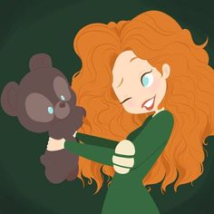 disney, merida, and brave image Disney Pixar, Walt Disney, Disney Nerd, Disney Fan Art, Cute Disney, Disney Girls, Disney And Dreamworks, Disney Cartoons, Disney Characters