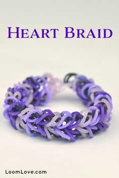 Heart Braid - rainbow loom bracelet