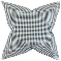 "Simple and understated, this throw pillow makes a great statement piece. Printed with a plaid pattern in shades of blue and white, this 18"" pillow provides texture and dimension. Combine with solids and other pattern like ikats, geometric and more. This indoor pillow is made of 100% cotton material. Crafted in the USA. $55.00 #plaid #pillows #homedecor #interiorstyling #throwpillow"