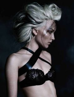 Veiled Lingerie Looks - The Ollie Henderson for Fashion Quarterly NZ Editorial Shoot is Naughty-Chic