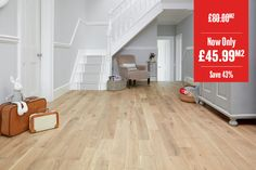 Home Choice Solid European Nature Oak Click Flooring X Natural UV Oiled Solid Wood Flooring, Hardwood Floors, Click Flooring, Floors Direct, Natural Brushes, Engineered Wood, Solid Oak, Tile Floor, Rustic