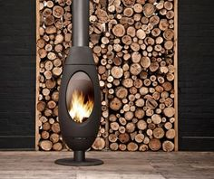 Ove cast iron free-standing fireplace from Invicta by Oblica
