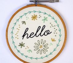 Rhello_embroidery_gray_shop_preview from spoon flower