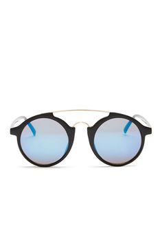 8c03096962 Women s Round Monaco Sunglasses + Pouch - Black - CJ12N1YZGTR - Women s  Sunglasses