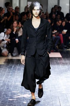 The hair!!! Yohji Yamamoto Spring 2014 Menswear Collection Slideshow on Style.com