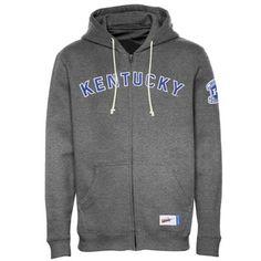 Nike Kentucky Wildcats Vault Old School Full Zip Hoodie - Charcoal