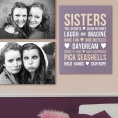 Use canvas print word art from GreatBIGCanvas.com in combination with personal photographs, to create a perfect wall display for kids or teens who share a room.
