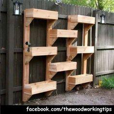 Nice Idea for Building a vertical garden.