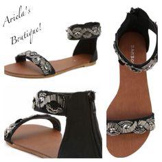 Studded black sandal Sizes 5 1/2-10 available  $10.00