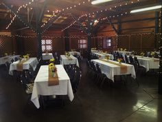 Sunflowers and Burlap Reception