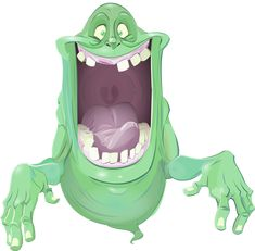 Slimer by Dan Schoening. Ghostbusters The Video Game, Ghostbusters Party, Character Art, Character Design, Ghost Busters, Alternative Movie Posters, Gremlins, Cartoon Drawings, Awesome Movies