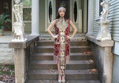 STUNNING Cleopatra like Metallic Jeweled beaded by BoudoirQueen