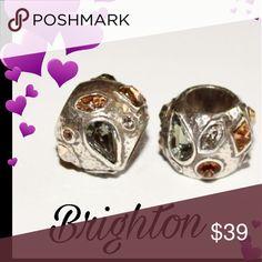 2 New Brighton Bejeweled charm bracelet beads Neutral colors Brighton  Jewelry Bracelets