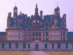 'Château de Chambord - au milieu' von Dirk h. Wendt bei artflakes.com als Poster oder Kunstdruck $18.03