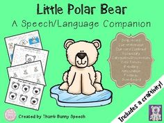 This is a companion pack to use with the book Little Polar Bear. This product has activities to target sequencing, comprehension, compare/contrast, vocabulary, categories/descriptors, verb tenses, retelling, feelings, and articulation. It also includes an open-ended game and a craftivity!Contents Include:Sequencing Cards (pages 3-4)Transition words for retelling (page 5)Comprehension Cards (pages 6-10)Compare/Contrast (page 11)Categories & Descriptors (pages 12-14)Context Clues (page 15)U...