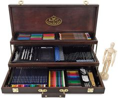 Deluxe Wood Box Drawing Set. Had something similar to this years ago but my set was smaller. Always looked forward to Christmas because of things like this (and coloring books). :-)