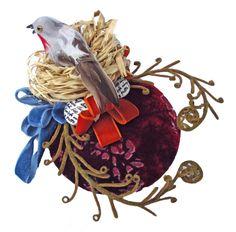 Bird's nest velvet - How To Make Hats Millinery Classes | Hat Academy Madd Hatter, Velvet Cake, Race Day, Hat Making, Bridal Accessories, Silk Flowers, Rooster, Wedding Flowers, Birds