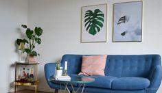 Monstera Plant print - By Garmi. Interior, nordic inspiration.   Ditteblog's Livingroom in www.iboligen.dk    En verden af vintage hos bloggeren @ditteblog - billede 12