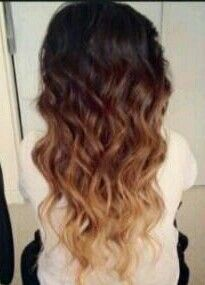 Ombre dark to light. I really like this. I think this is what I'm going to have done the next time I go in.