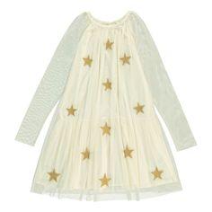 Robe Tulle Etoiles Misty Ecru Stella McCartney Kids - Mode Enfant - Smallable