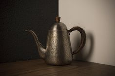 Coffee kettle Textured hammered pattern smoky silver / Gyokusendo