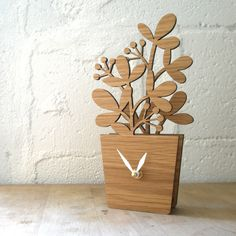 Houseplant Medium | Eco friendly modern wall clocks home decors hand crafted in USA