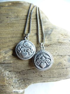 Bridesmaid pendants Snow White and Rose Red two by DreamofaDream, $50.00
