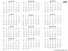 free printable 2016 calendar | Free 2016 printable calendar template slide2