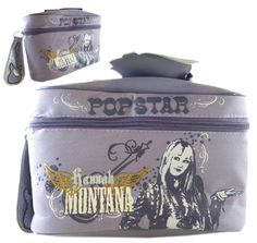 Light Purple Hannah Montana Cosmetic Bag  Girls Travel Bag ** Click image for more details.
