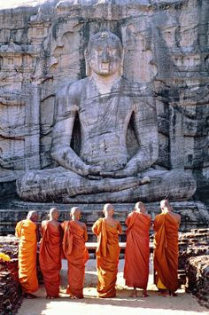 Even though Buddha is our leader we believe that he is gone so there for the people who spread the word about the teachings of the Buddha are the monks.