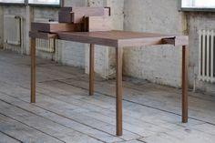Listen To Your Hands par Studio Lee Sanghyeok - Journal du Design Modular Furniture, Retro Furniture, Ikea Furniture, Furniture Design, Furniture Ideas, Blog Design Inspiration, Desk With Drawers, Wooden Diy, Wood Design