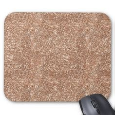 Rose Gold Glitter Mouse Pad