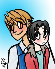 Yukina & Kisa from Sekaiichi Hatsukoi! #yaoi #BL http://moon-toons.tumblr.com/post/93546444080/i-almost-forgot-that-today-was-august-1st-so