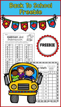 Back to School--Math for 2nd grade--FREE math for primary grade