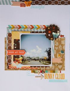 """I don't do 8 1/2x11 layouts, but I really love the """"bunny cloud""""! Just awesome!! The layout is great too though!!"""
