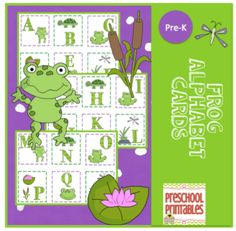 Frog+Alphabet+Cards+from+Preschool+Printables+on+TeachersNotebook.com+-++(8+pages)++-+Frog+Alphabet+Cards