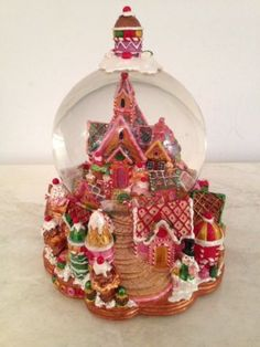 Christopher Radko Gingerbread Lane Musical Snow Globe in Original Box ...