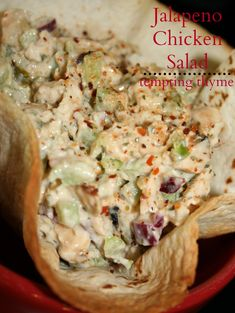 I love chicken salad, and this Jalapeno Chicken Salad ranks very high on my list. I love chicken salad, and this Jalapeno Chicken Salad ranks very high on my list. It is a keeper, a Healthy Protein Snacks, Healthy Eating, Healthy Recipes, Fast Recipes, Healthy Foods, Croissants, Chicken Salad Recipes, Jalapeno Chicken Salad Recipe, Canned Chicken