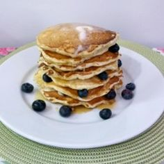 Light And Fluffy Blueberry Pancakes