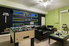 For all those gaming lovers out there, you will love this Pac-man inspired games room filled with a selection of different activities. Championsgate 68 offers this design.
